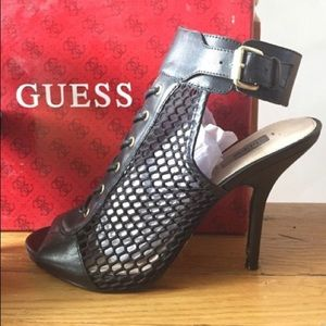 Fishnet Guess Heels